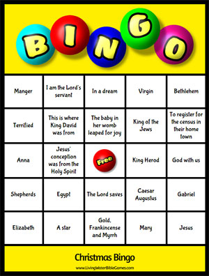 graphic regarding Bible Bingo Printable identify Xmas Bingo