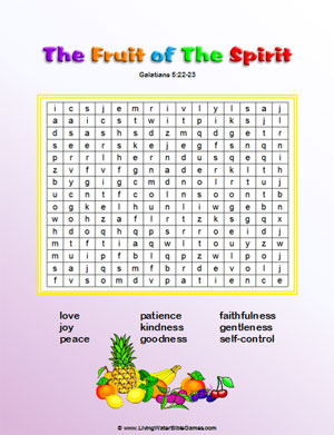 picture regarding Fruit of the Spirit Printable named Fruit of the Spirit Term Seem